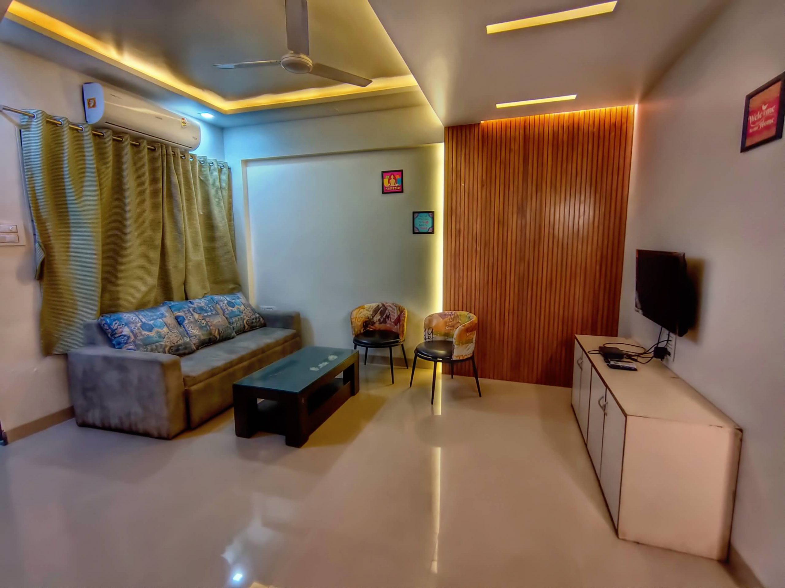 Living room with AC