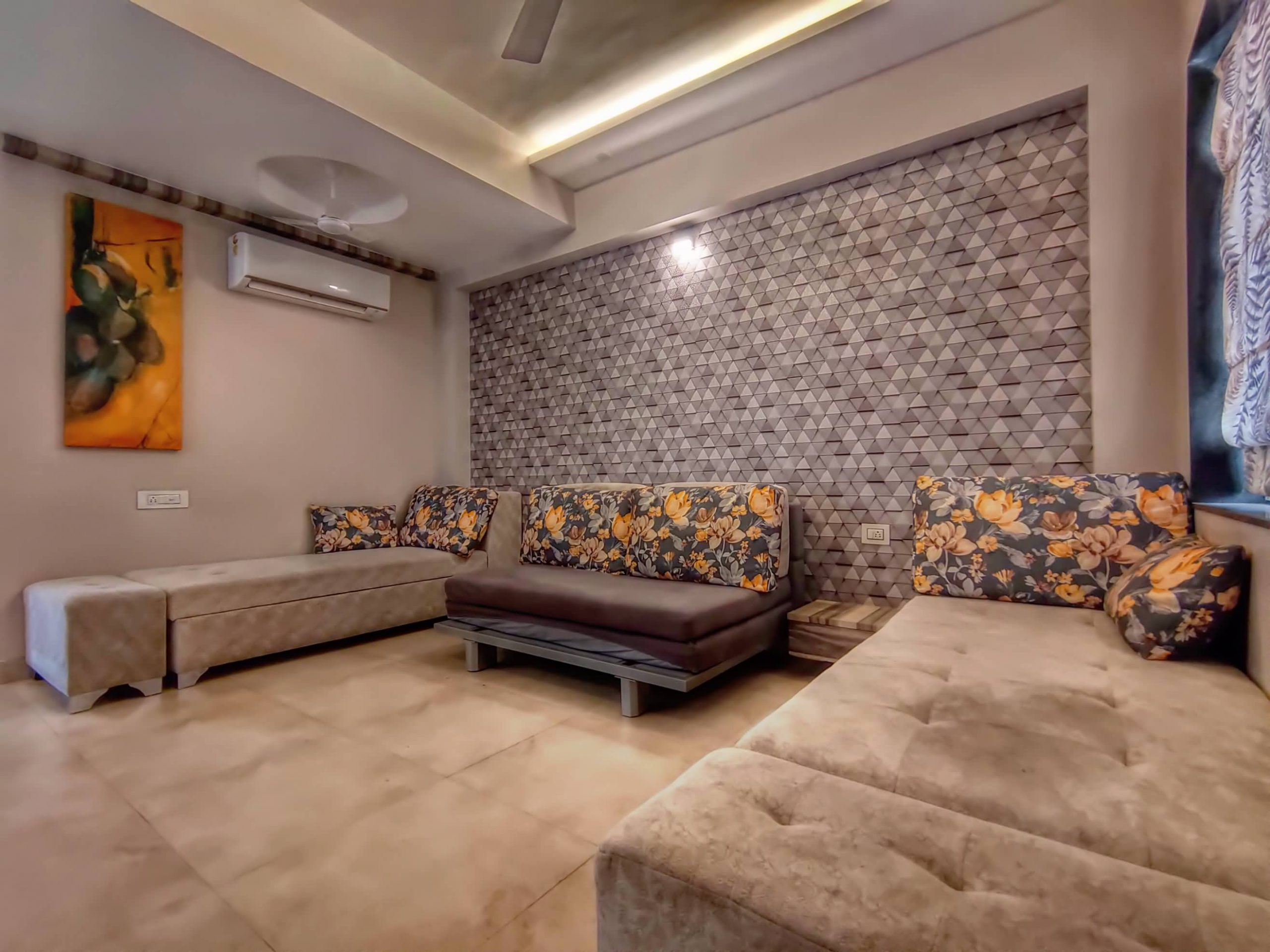 HAVE Villa 17 - Living room with Sofa cum bed & AC