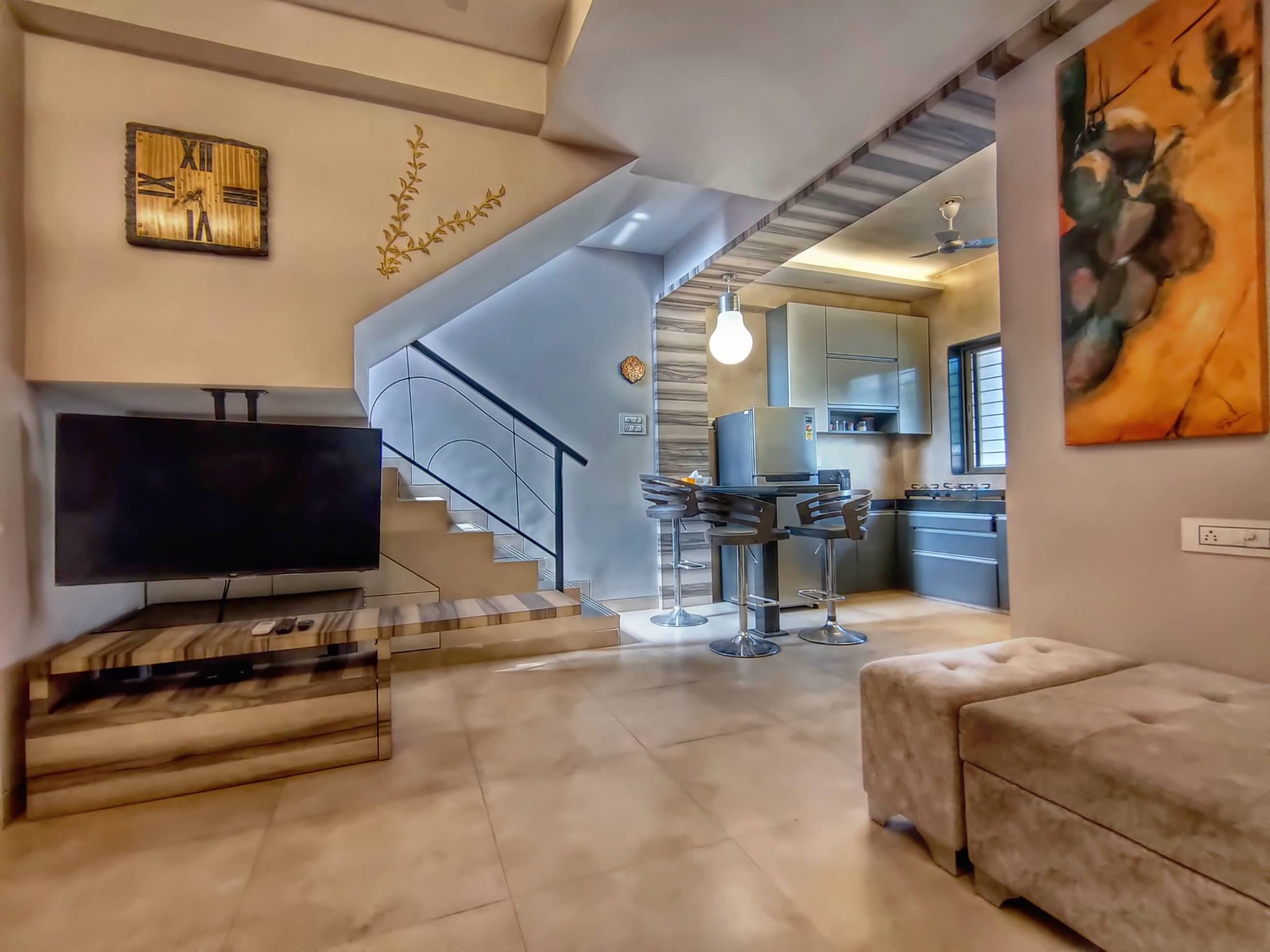 HAVE Villa 17 - Living view with LED TV / Kitchen