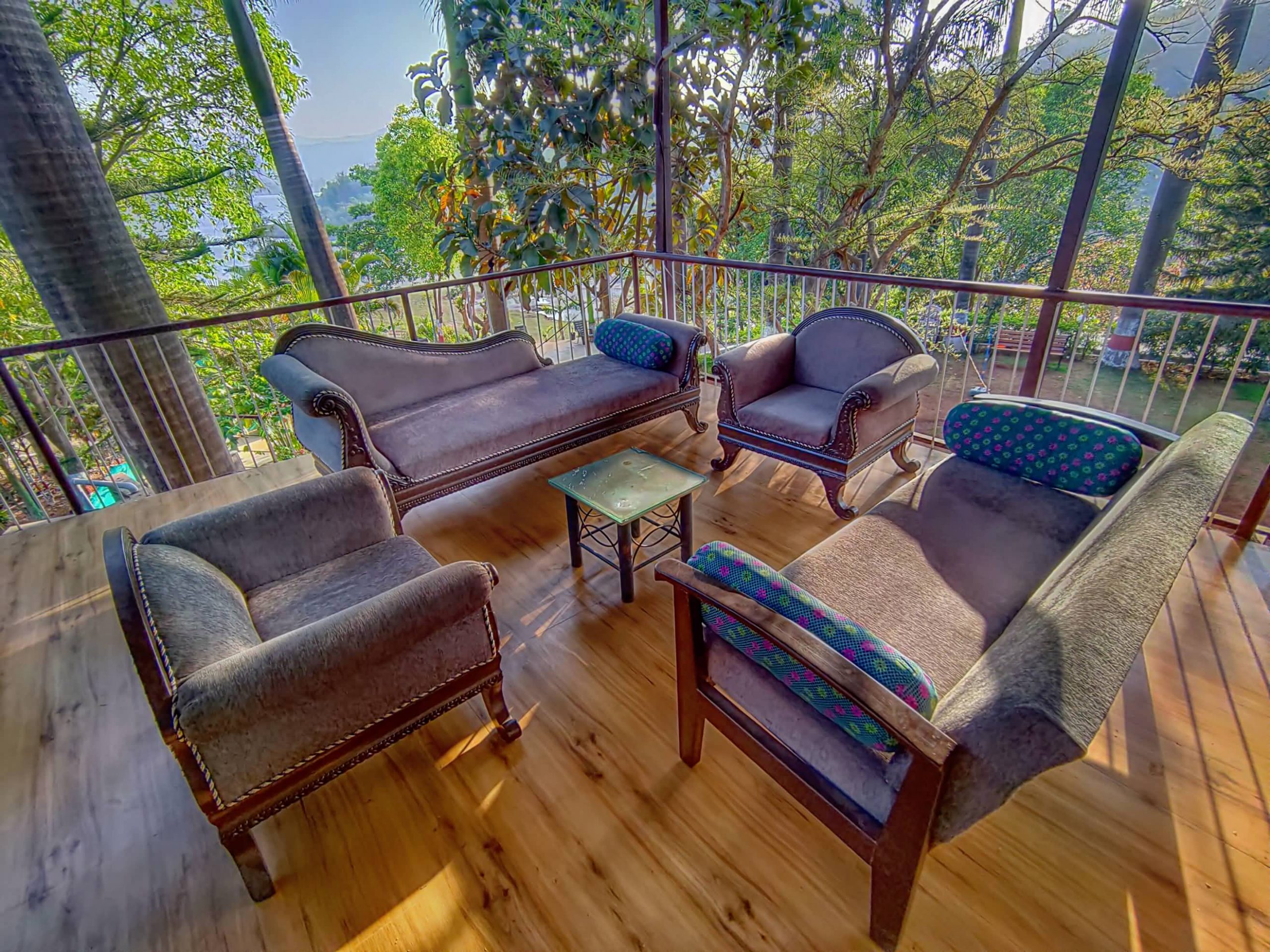 Upper desk passage with perfect seating @ HAVE Villas JMD Farm, Pawna Lake
