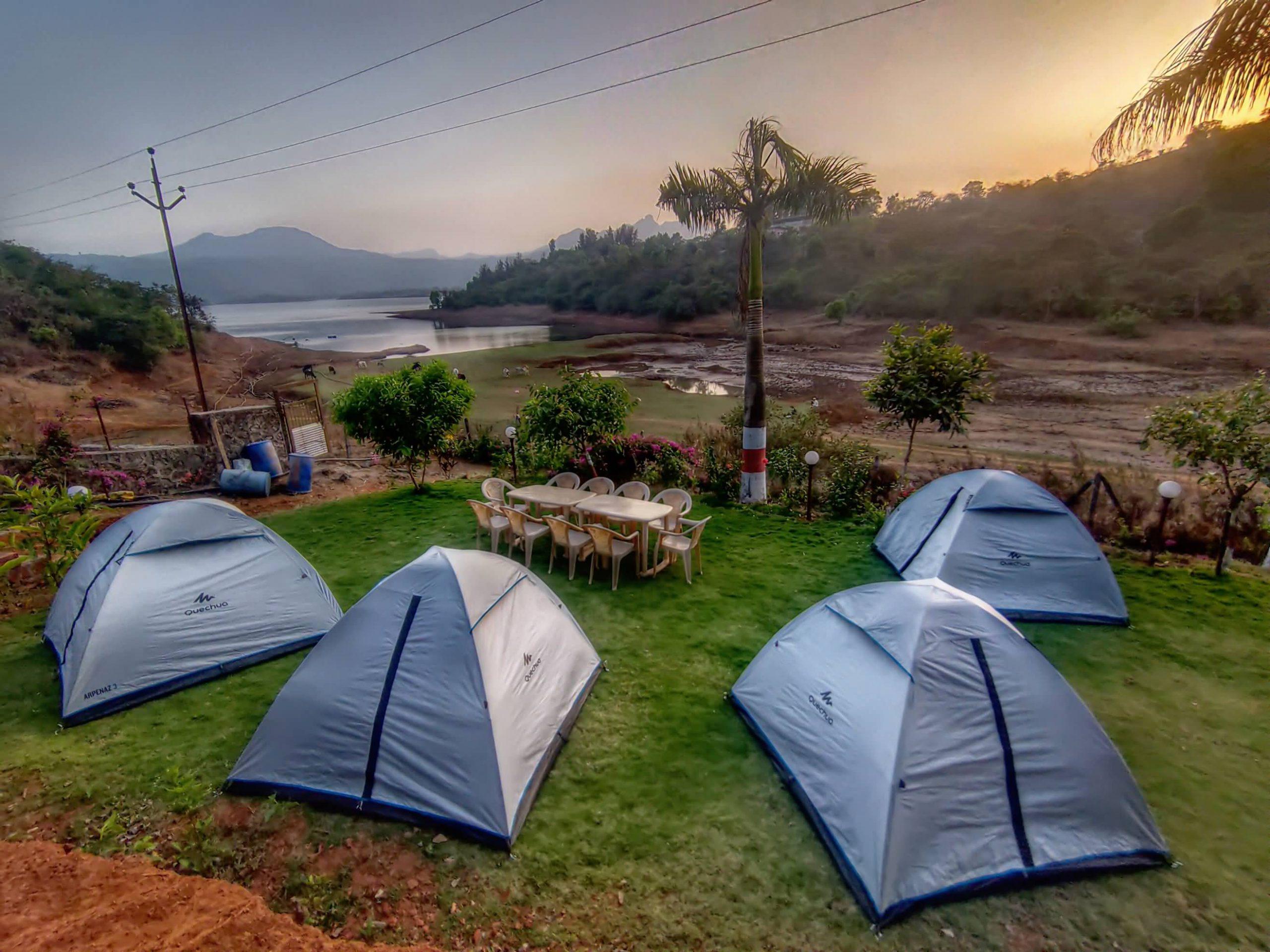 Tent Camping at HAVE Villas JMD Farm, Pawna Lake, Lonavala