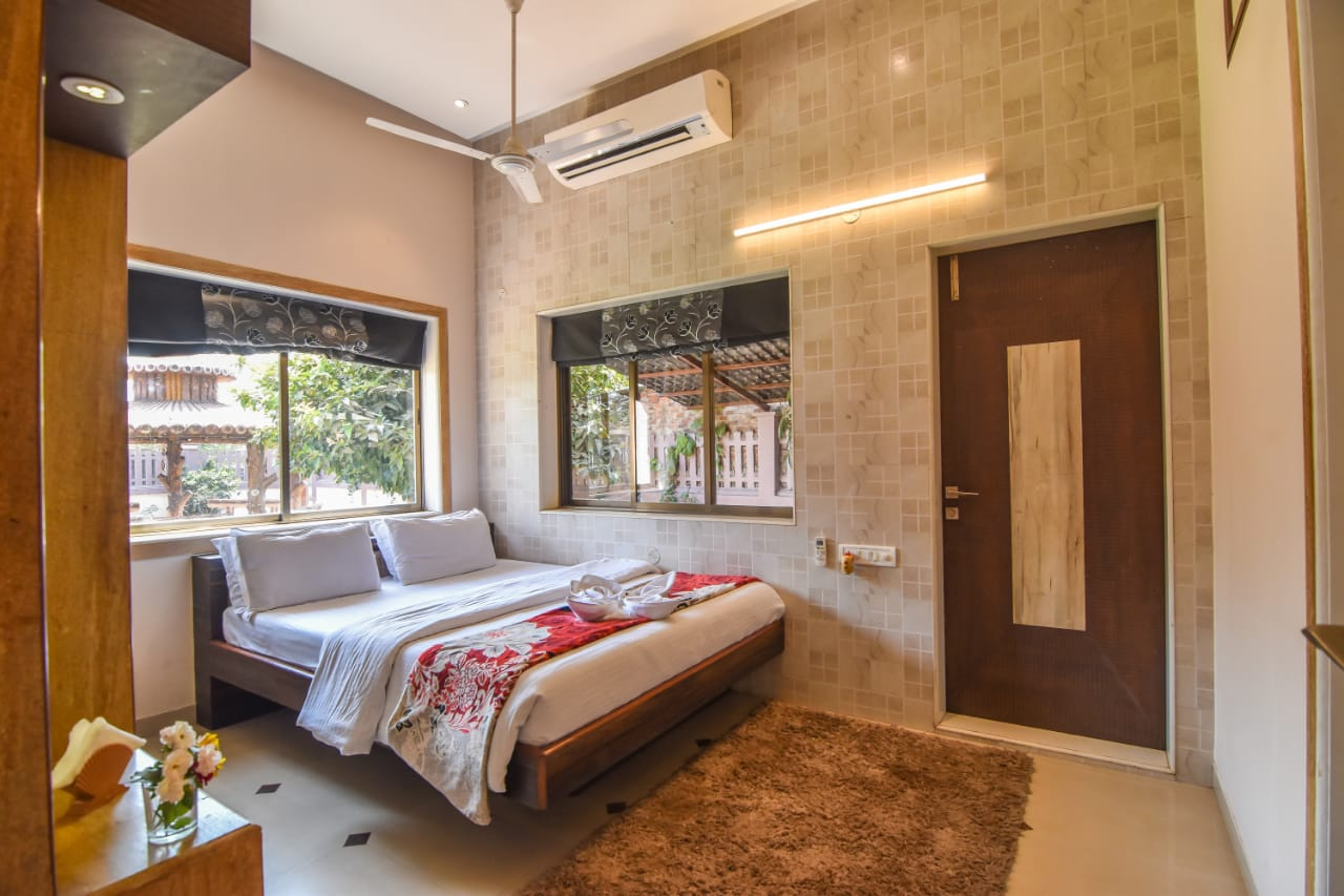 Bedroom with AC / Attached bathroom