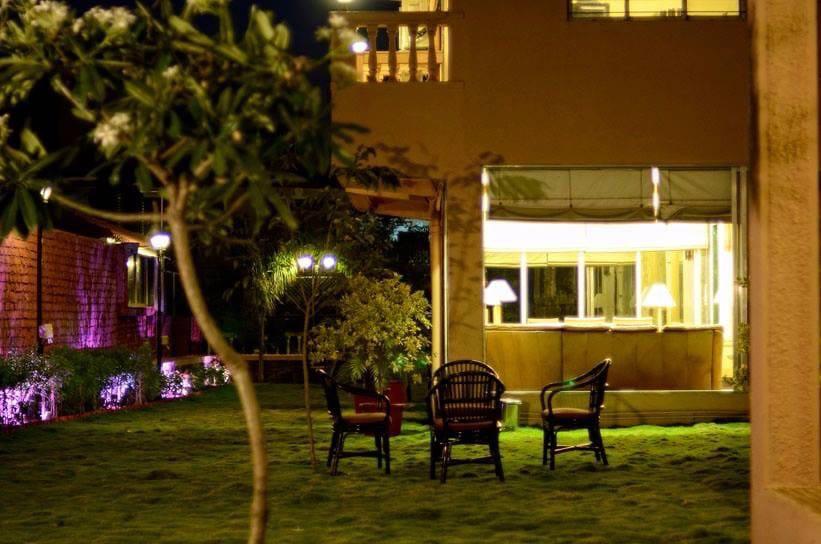 Small Lawn beside the Villa