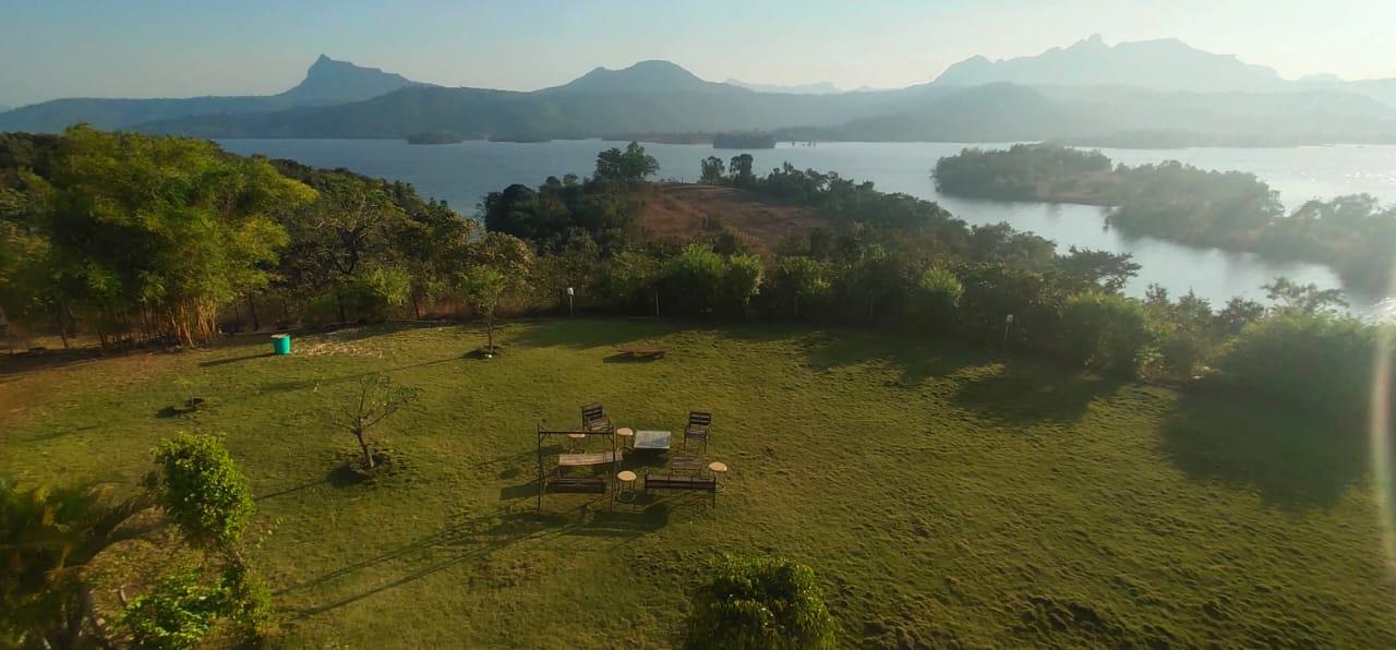 Pawna Lake view from the Villa
