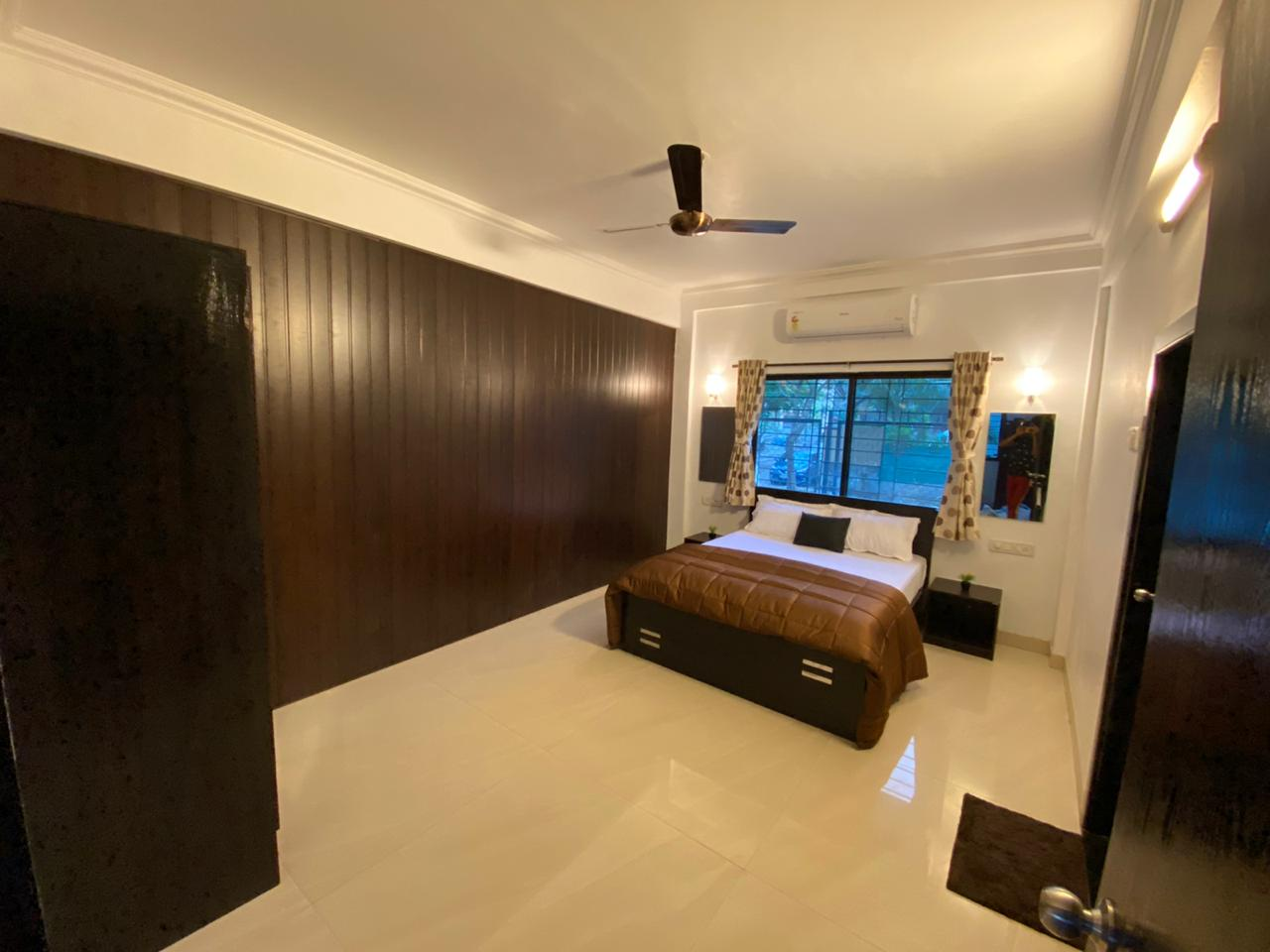 Bedroom with AC.