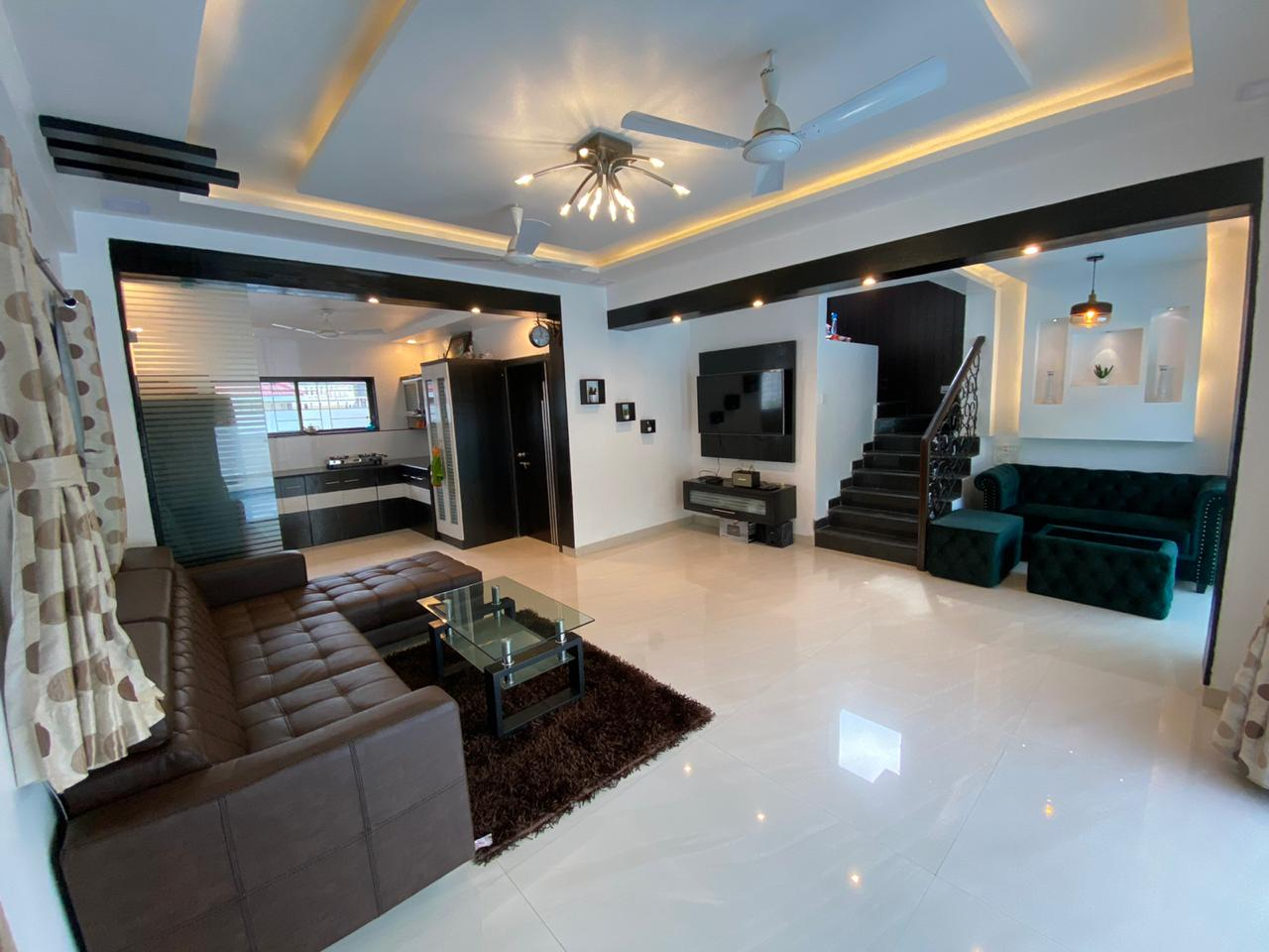Living room with LED TV and Sofa