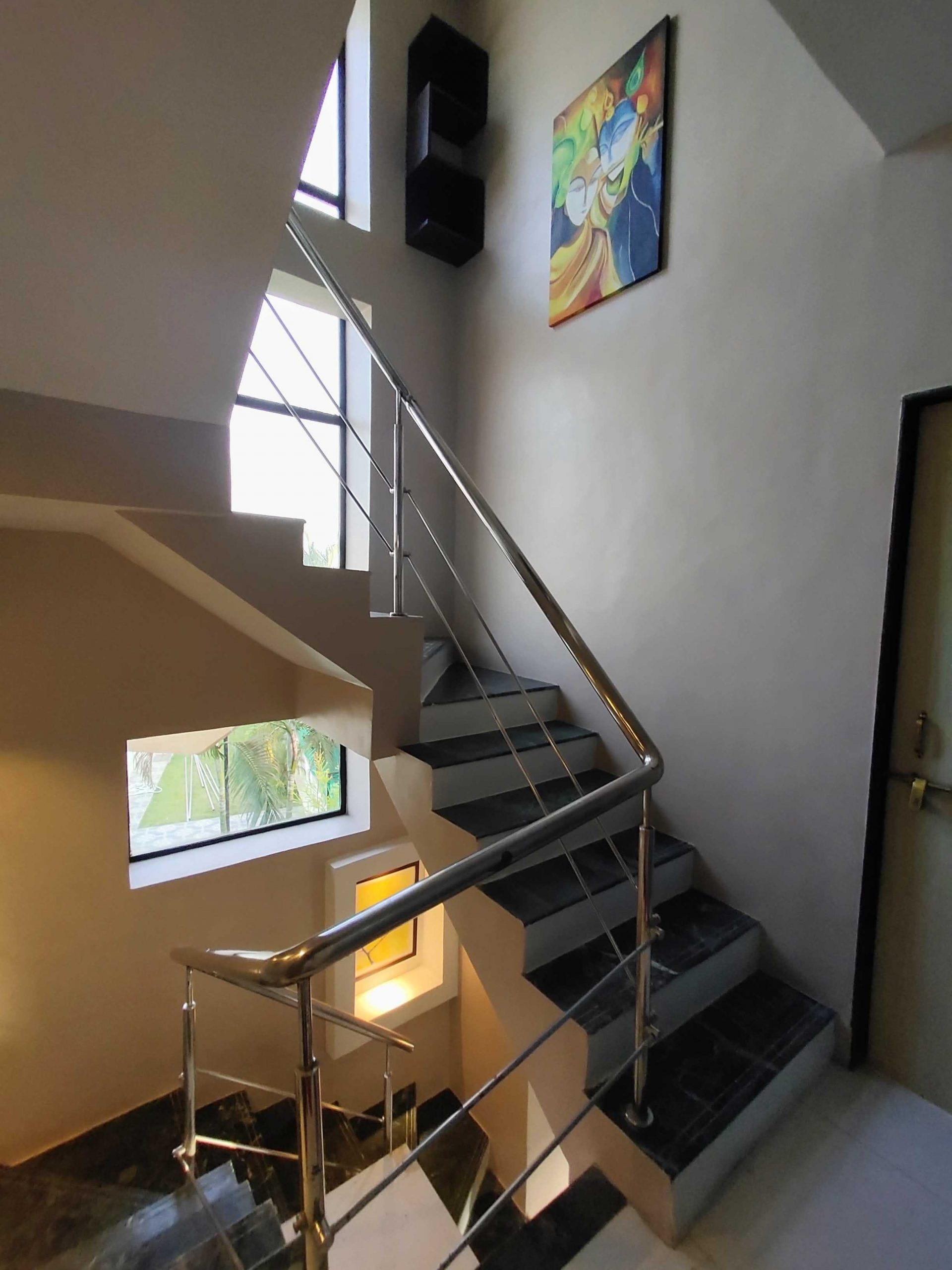 Staircase view inside Villa