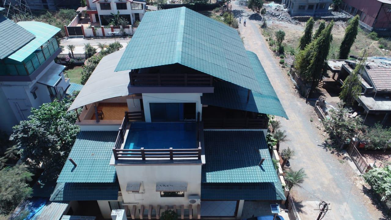 Top Ariel View of the Villa